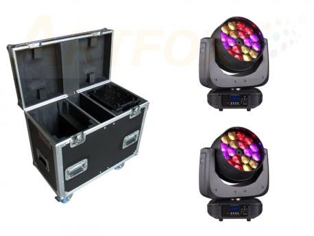 Ostar Eye K18 18x 15W LED Beam Kaleido Moving Head Tour Bundle