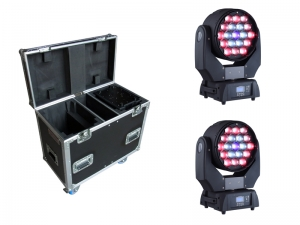 Beam Wash 19E 19x15W RGBW LED 2 in 1 Moving Head Tour Bundle