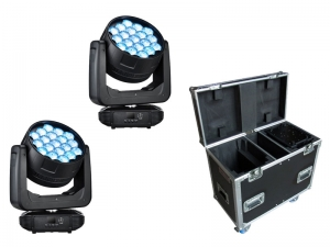 King Wash 19 QX 19x30W RGBW LED Washlight Tour Bundle